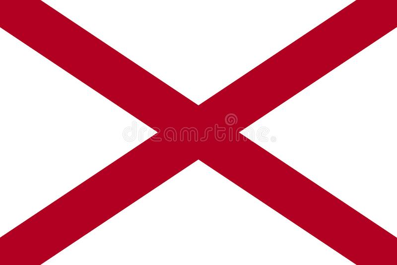 Alabama state flag. United States of America.jpg. Alabama state flag. United States of America royalty free illustration