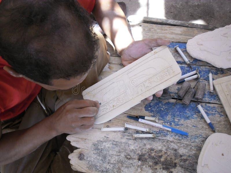 Alabaster- man som gör royaltyfria foton