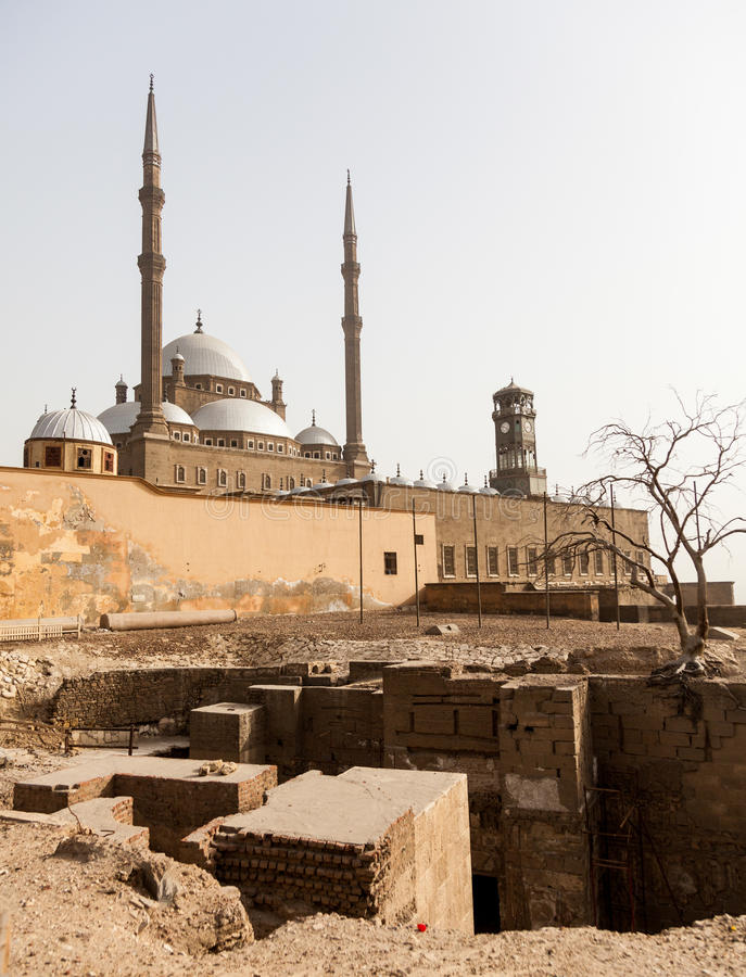 Alabaster-Moscheen-Zitadelle Kairo Ägypten stockbilder