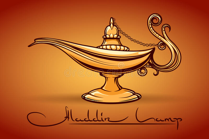 Aladdin魔术闪亮指示 皇族释放例证