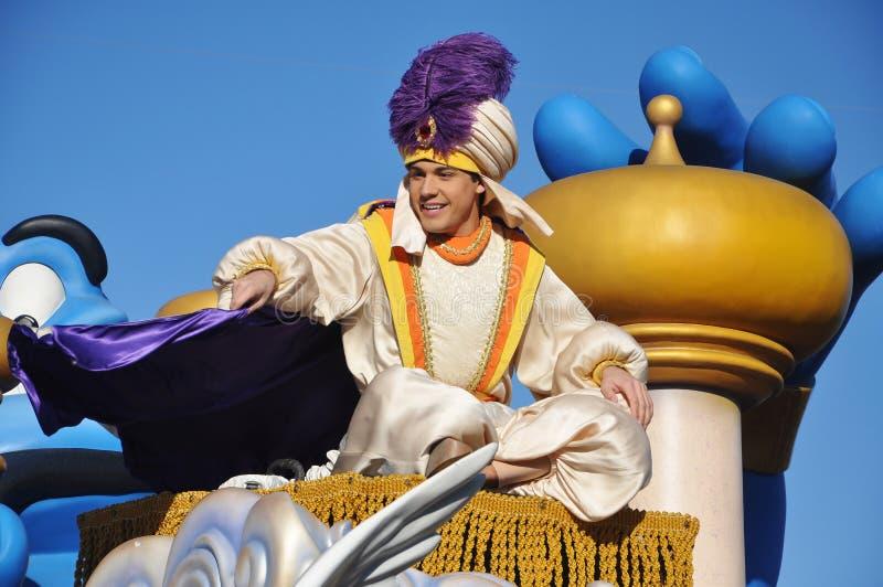 Aladdin In A Dream Come True Celebrate Parade Editorial Photography