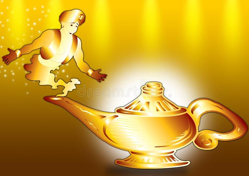 Aladdin en lamp vector illustratie