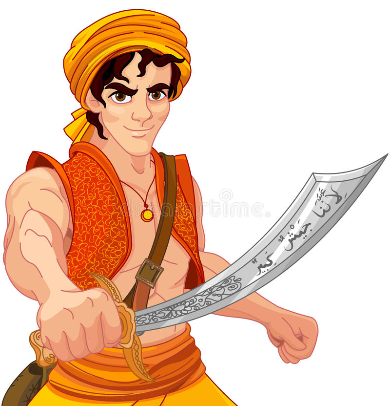 Aladdin i Cudowny Saber ilustracji
