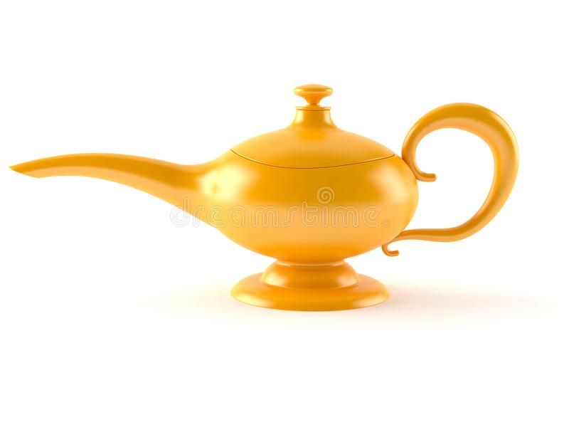 Aladdin lamp. On white background vector illustration