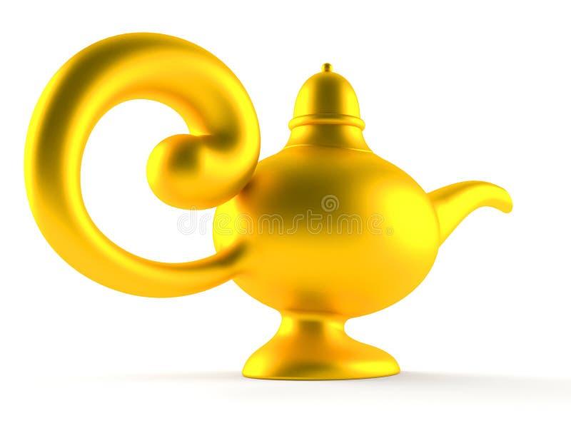 Aladdin lamp. Isolated on white background vector illustration