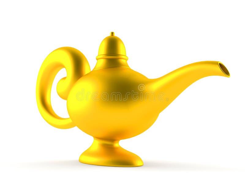 Aladdin lamp. Isolated on white background stock illustration