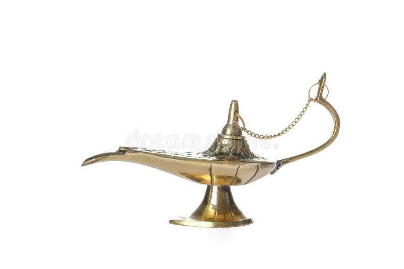 Aladdin Lamp mágico aisló fotos de archivo