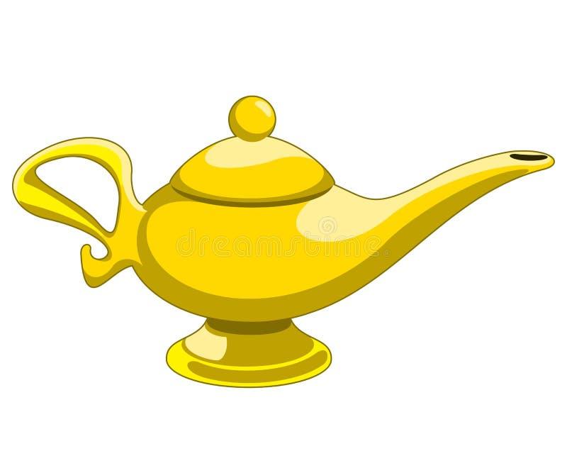 Aladdin's lamp. Doodle style genie aladdin's lamp vector illustration vector illustration