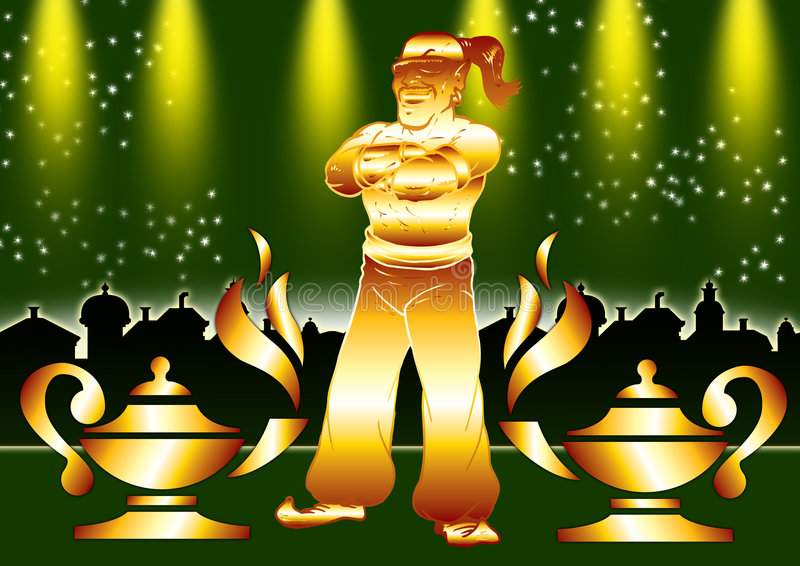 Download Aladdin's Lamps stock illustration. Image of fire, india - 3741327