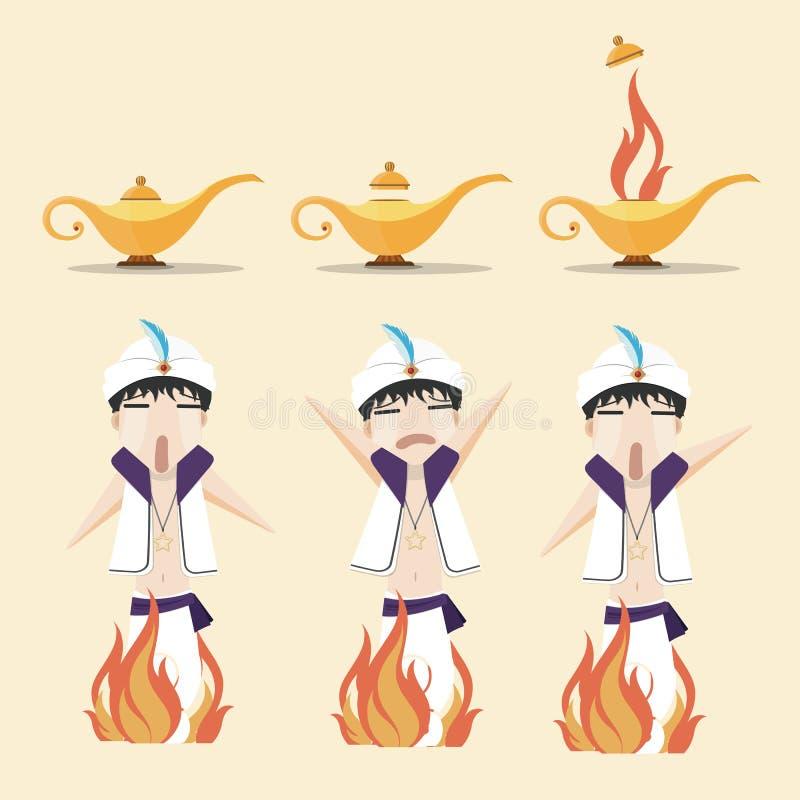 Aladdin's wonderlamp vector illustratie