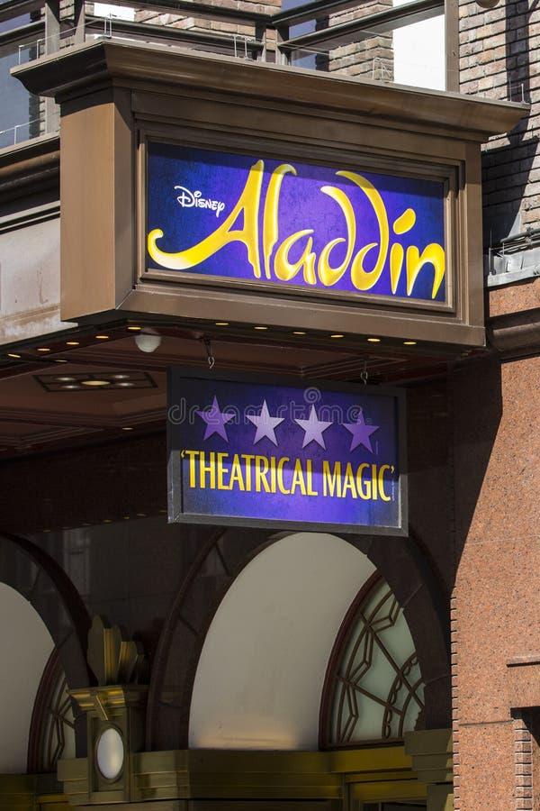 Aladdin Theatre Show fotografía de archivo