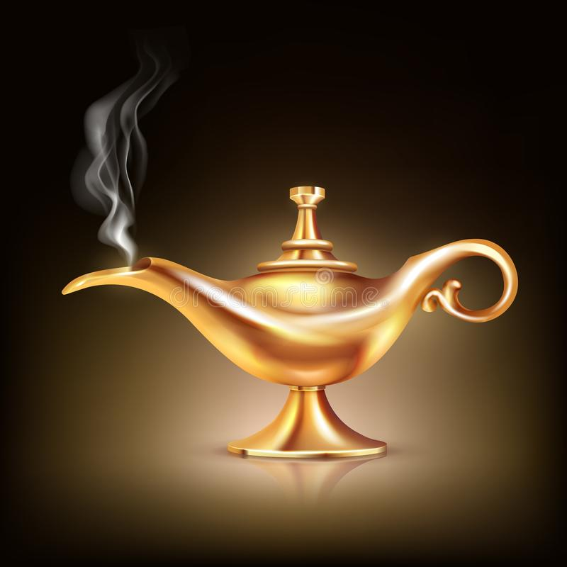 Aladdin Vessel Smoke Composition ilustración del vector