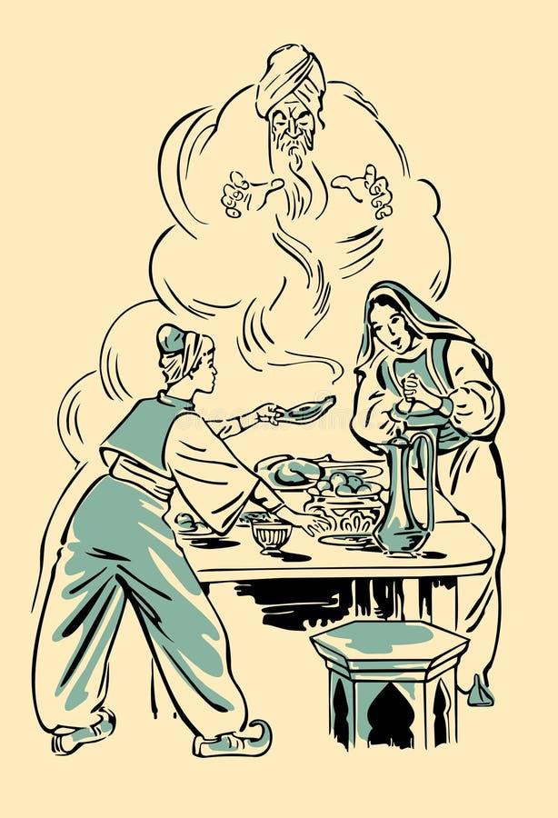 Aladdin y la lámpara maravillosa libre illustration