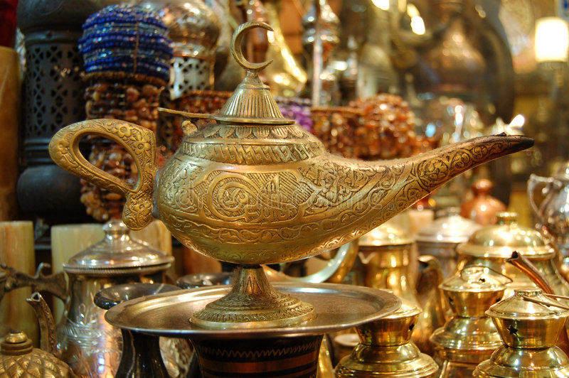 Aladin lamp ! stock photography