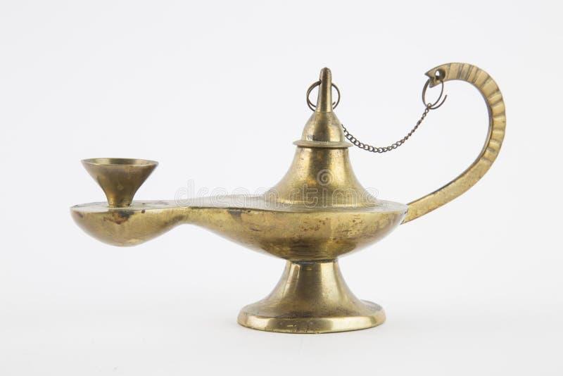 Aladino lamp of desires stock photo