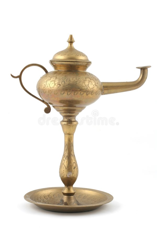 Aladins Lamp stock photography