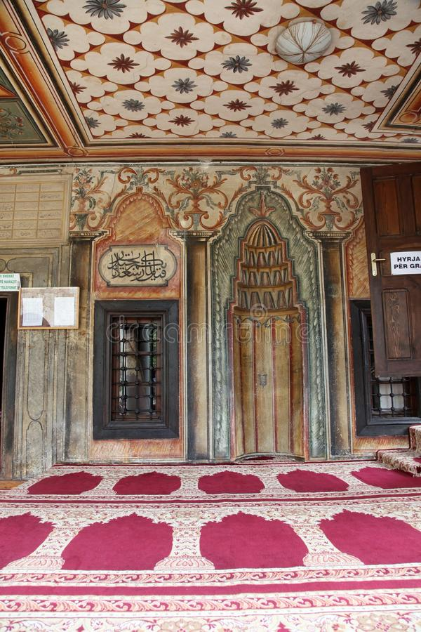 Aladza geschilderde moskee, Tetovo, Macedonië stock foto