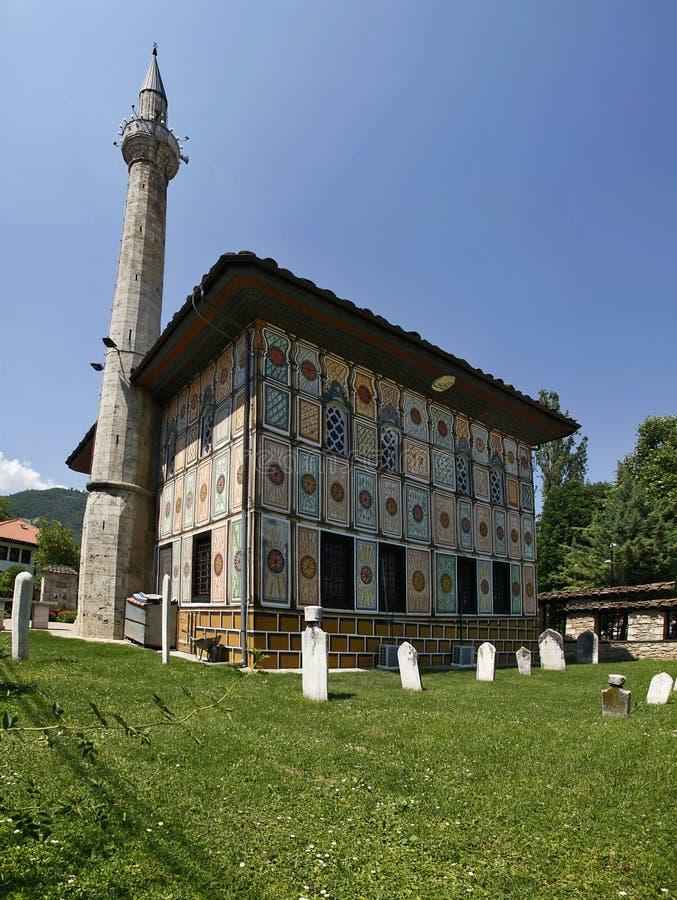 Aladza mosque (painted), Tetovo, Macedonia, Balkans. Aladza (Alaca) mosque (painted), Tetovo, Macedonia, Balkans royalty free stock photo