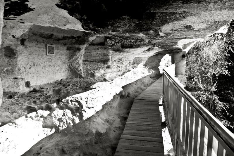 Aladzha岩石修道院,保加利亚 库存照片