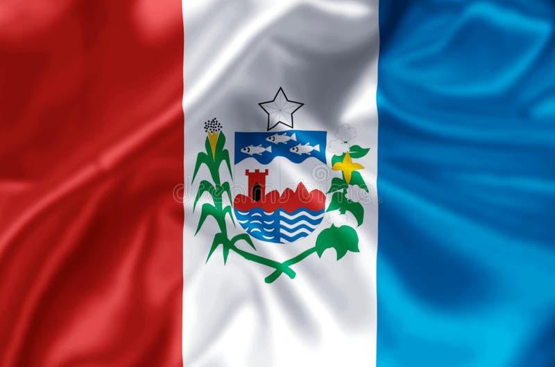 Alagoas flag illustration. Alagoas waving and closeup flag illustration. Perfect for background or texture purposes stock illustration