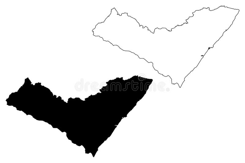 Alagoas map vector. Alagoas Region of Brazil, Federated state, Federative Republic of Brazil map vector illustration, scribble sketch Alagoas map stock illustration