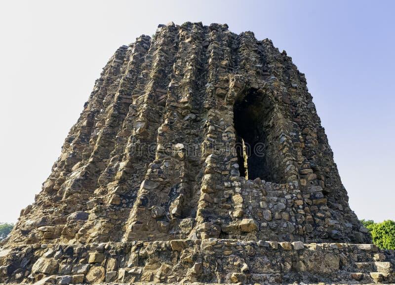 Alai Minar de Khalji au complexe de Qutab - New Delhi, Inde photo stock