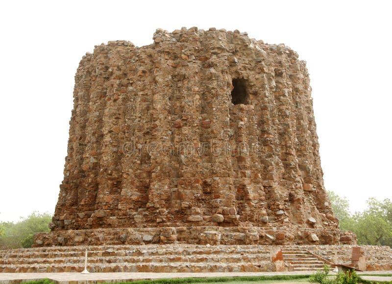 Alai Minar in Komplex Qutub Minar lizenzfreies stockbild
