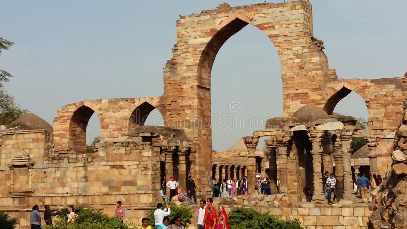 Alaideur van Qutub Minar stock foto's