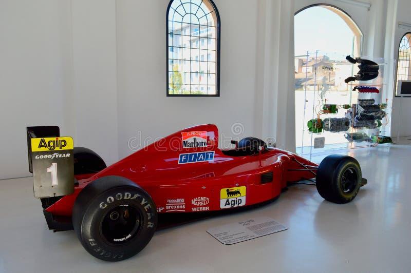 Alain Prost Formel 1 Rennwagen in Modena Ferrari Museum stockfoto