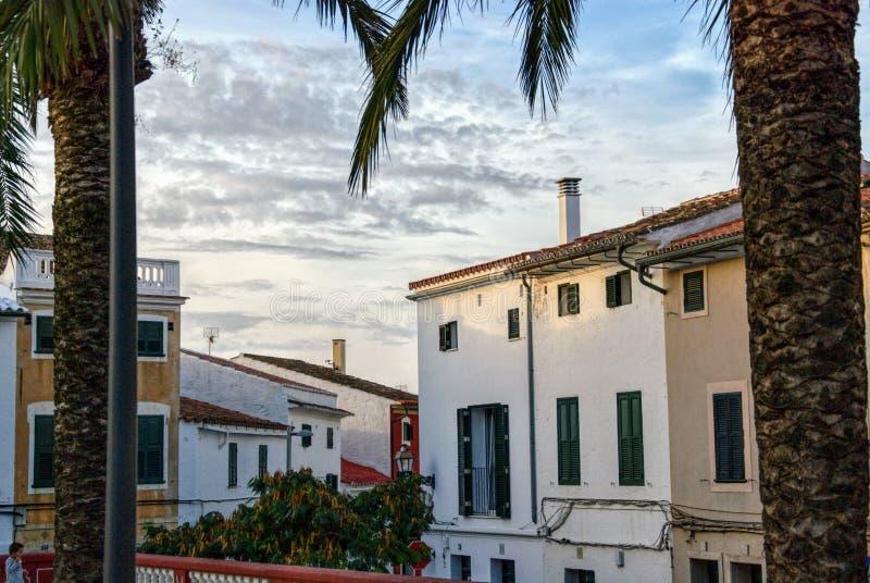 Alaior下午, Menorca,巴利阿里群岛,西班牙 库存图片
