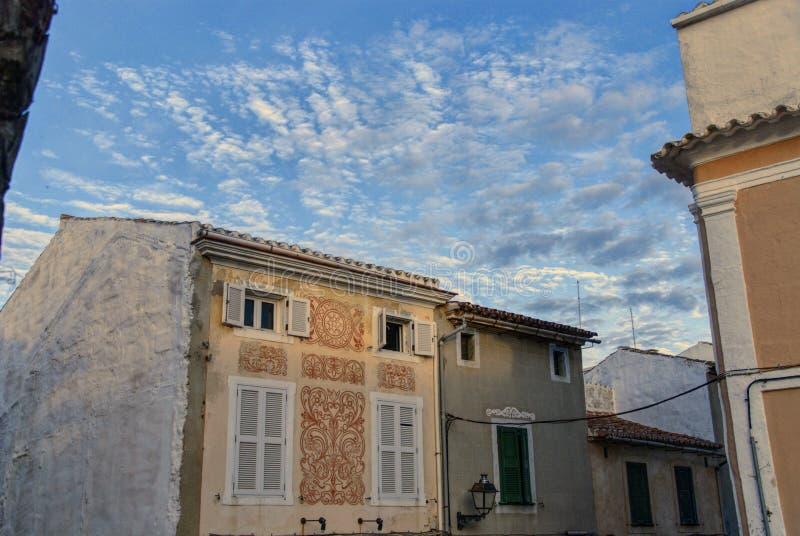 Alaior下午, Menorca,巴利阿里群岛,西班牙 库存照片
