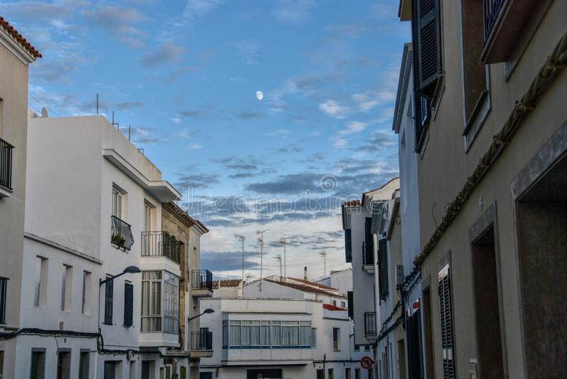 Alaior下午, Menorca,巴利阿里群岛,西班牙 免版税库存图片