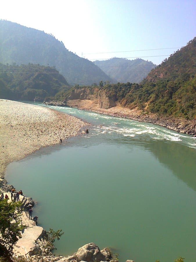 Alaknanda rzeka zdjęcie royalty free