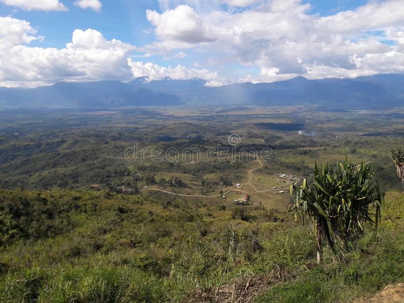 Alam Papuasia di Pemandang fotografie stock libere da diritti
