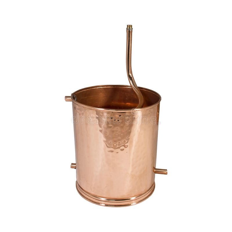 Alambic. An alembic from Arabic الإنبيق al-anbīḳ; from Greek ἄμβιξ ambix, meaning `cup, beaker` is an royalty free stock photography