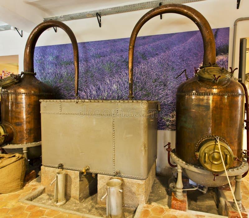 Alambiques o calmas en una destilería del perfume fotos de archivo libres de regalías