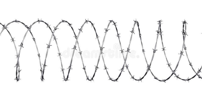 Alambre de púas ilustración del vector