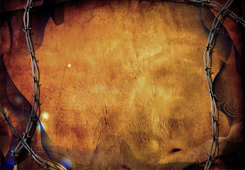 Alambre de púas Grunge foto de archivo libre de regalías