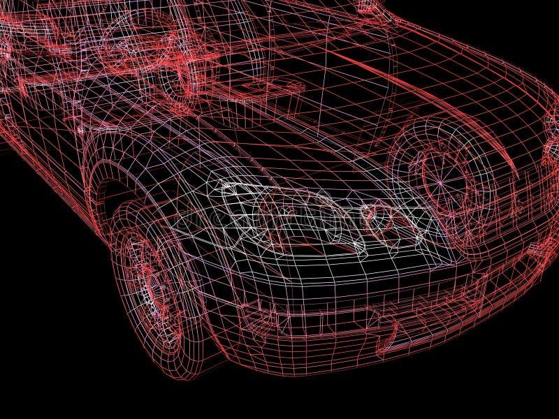 Alambre del coche stock de ilustración