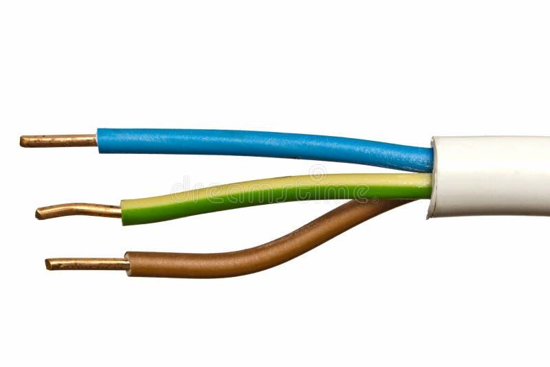 alambre eléctrico imagenes de archivo