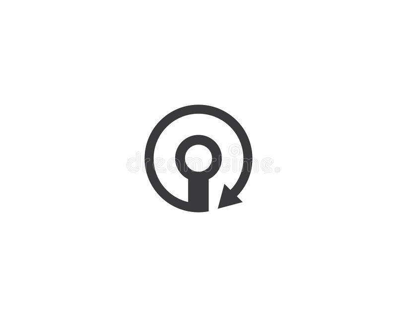 Alambre, icono del logotipo del cable stock de ilustración