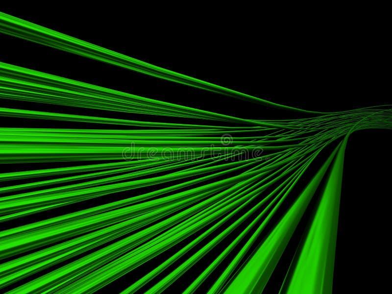 Alambres verdes ilustración del vector
