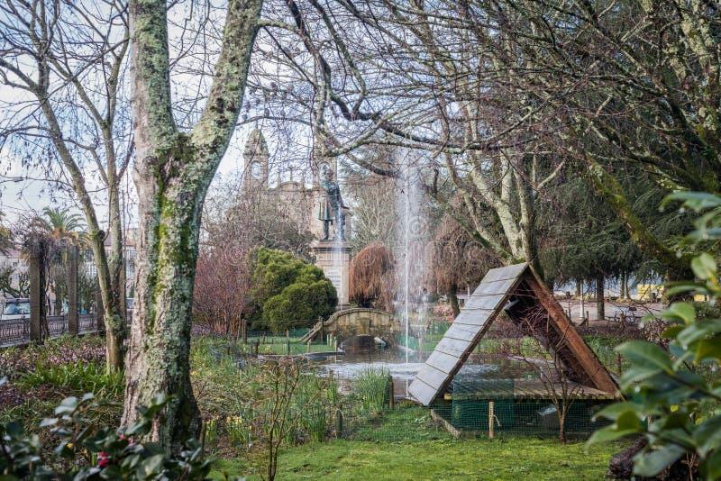 Alameda πάρκο στο Σαντιάγο de Compostela, Γαλικία στοκ εικόνες με δικαίωμα ελεύθερης χρήσης