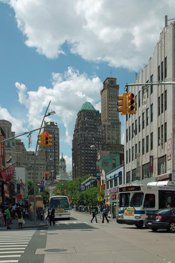 Alameda Brooklyn New York City de Fulton fotografia de stock royalty free