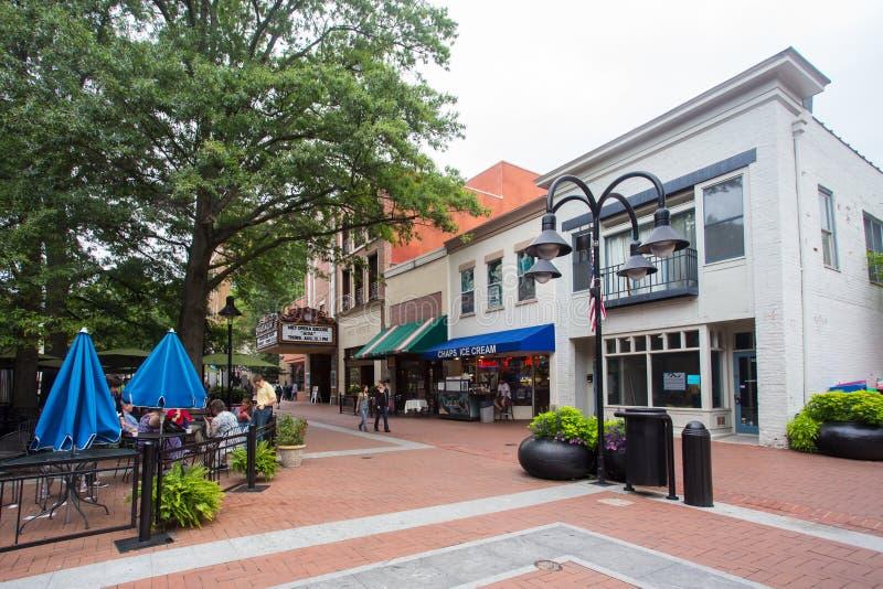 Alameda céntrica Charlottesville VA imágenes de archivo libres de regalías