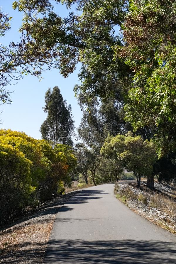 Alameda creek trail, East San Francisco Bay Area, Fremont, California royalty free stock images