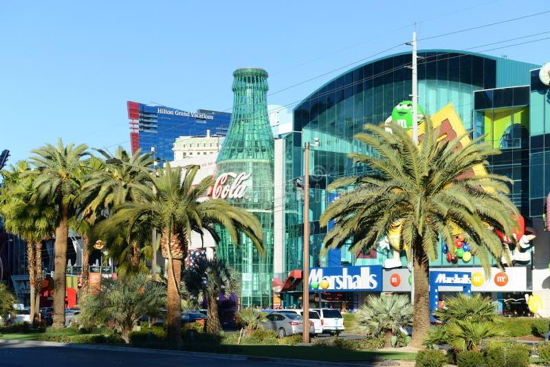 Alameda da mostra na tira de Las Vegas, Las Vegas, nanovolt imagens de stock royalty free
