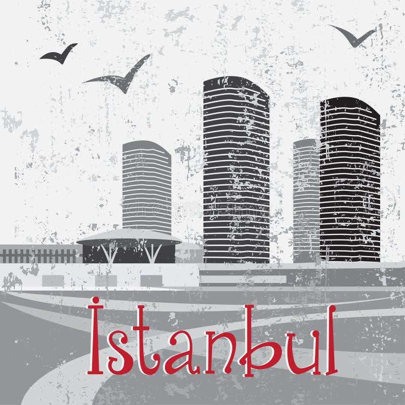 Alameda de Ä°stanbul con los pájaros libre illustration