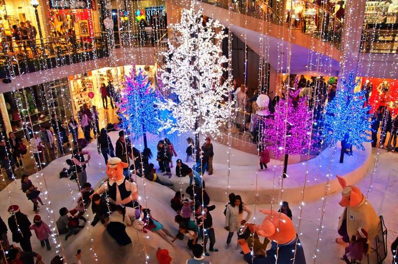 Alameda de Andino no Natal imagens de stock royalty free