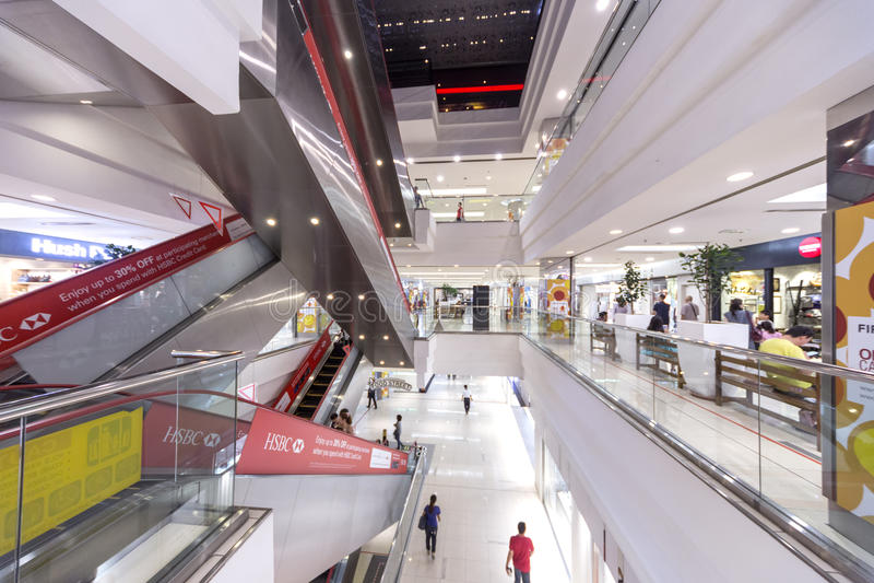 Alameda de compra, 1Utama, Malaysia fotos de stock